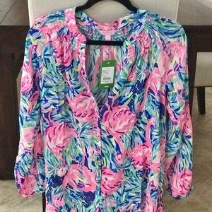 Lilly Pulitzer front button top size S